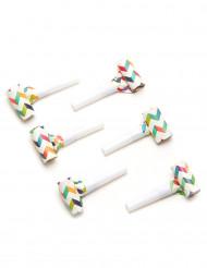 6 Matasuegras trendy multicolores