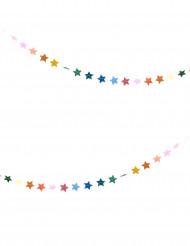 Guirnalda mini estrellas multicolores 3 m