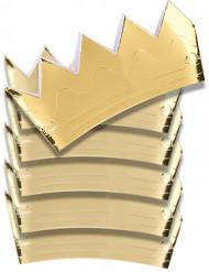 6 Coronas doradas de cartón