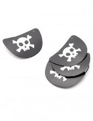 4 Parches pirata de cartón