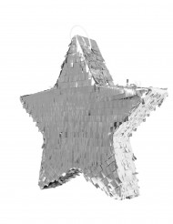 Piñata estrella plateada