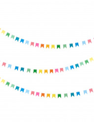 Guirnalda mini banderines multicolores 2 m