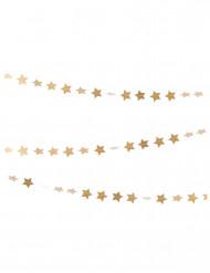 Guirnalda mini estrellas doradas 3 m
