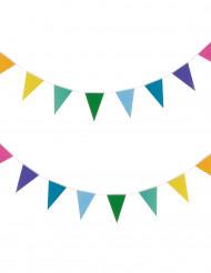 Guirnalda banderines pequeños multicolor 2 m