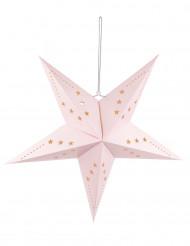 Linterna estrella rosa claro 60 cm