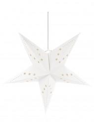 Decoración estrella blanca 60 cm