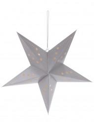 Decoración estrella gris 60 cm