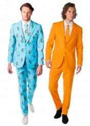Disfraz de pareja Opposuits™ Tulipán y Naranja hombre