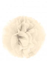 Pompón para colgar de papel crema 35 cm