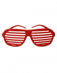 Gafas rayadas rojas