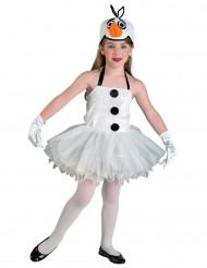 Disfraz muñeco de nieve niña