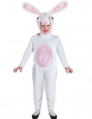 Disfraz de conejo blanco divertido niño