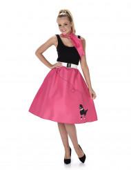 Disfraz rosa años 50 mujer