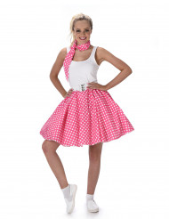 Disfraz años 50 rosa mujer