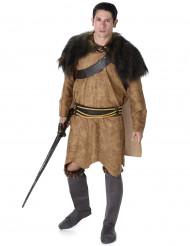 Disfraz de vikingo marrón hombre