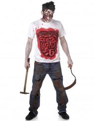 Disfraz de zombie con vísceras de látex hombre Halloween
