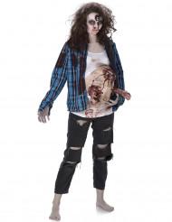 Disfraz de zombie barriga de látex mujer Halloween