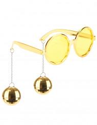 Gafas doradas disco adulto