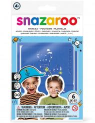 6 Plantillas adhesivas maquillaje Snazaroo™