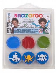 Mini kit maquillaje y sellos piratas y océano Snazaroo™