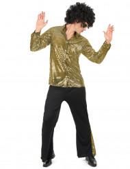 Disfraz de disco dorado hombre