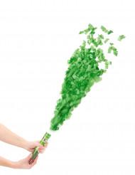 Cañón de confetis verdes 20 cm
