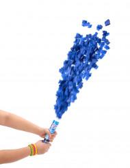 Cañón confetis redondos azules 20 cm