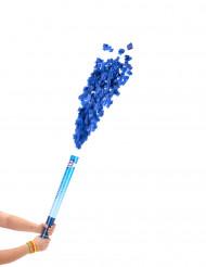 Cañón de confetis azules 60 cm
