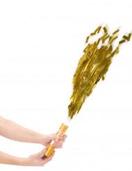 Cañón de confetis dorados 20 cm