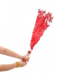 Cañón de confetis redondos rojos 20 cm