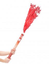 Cañón de confetis rojos 60 cm