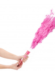 Cañón de confetis rosas 20 cm