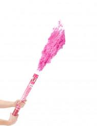 Cañón de confetis rosas 60 cm