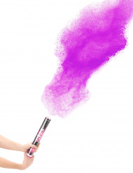 Cañón de confetis polvo rosa 40 cm