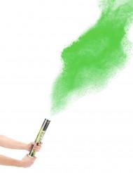 Cañón de confetis polvo verde 40 cm