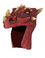 Casco de dragón rojo adulto