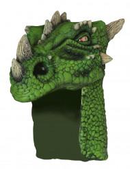 Casco dragón verde adulto