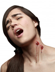 Heridas falsas colmillos vampiro adulto Halloween