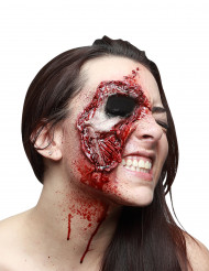 Herida falsa rostro piel desgarrada