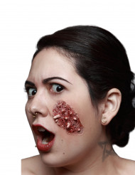 Herida falsa gusanos adulto Halloween