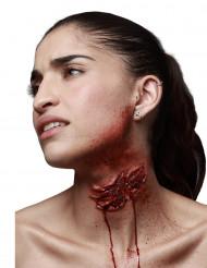 Herida falsa mordedura de zombie adulto Halloween