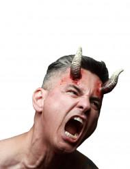 Heridas falsas cuernos demonio adulto Halloween
