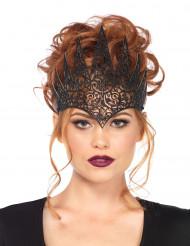 Corona maléfica negra mujer Halloween