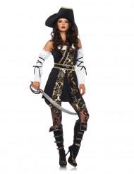 Disfraz pirata de los océanos mujer