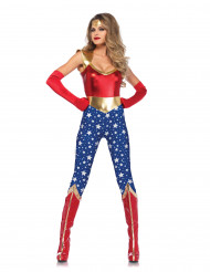 Disfraz de superheroína americana mujer