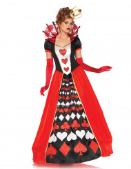 Disfraz reina de corazones mujer elegante