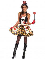 Disfraz soldado de corazones mujer