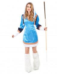 Disfraz esquimal azul sexy mujer