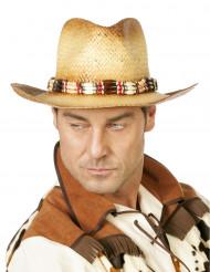 Sombrero de paja aventurero deluxe adulto