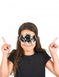 Semi máscara lentejuelas murciélago niño Halloween